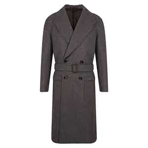 Grey VBC Wool Raglan Coat