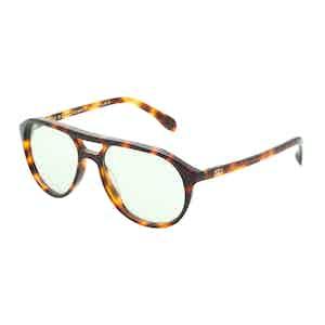 Stevie Tortoiseshell Aviator Sunglasses