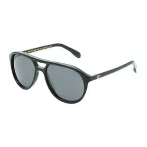 Stevie Black Aviator Sunglasses