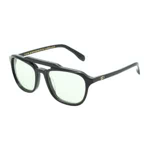Mickey Black Square Aviator Sunglasses