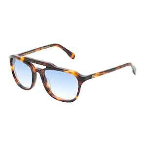 Mickey Tortoiseshell Square Aviator Sunglasses