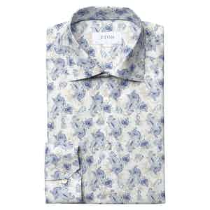 Watercolour Paisley Print Slim Fit Shirt