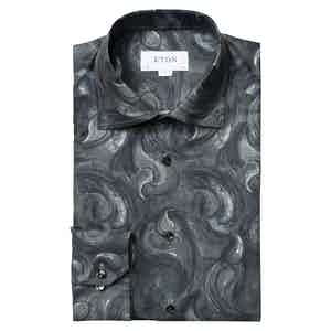 Midnight Blue Paisley Contemporary Fit Drop Shirt