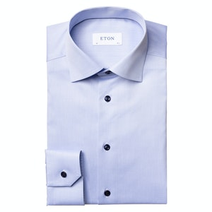 Blue Twill Slim Fit Shirt