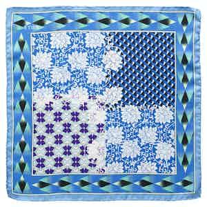 Blue Patchwork Pocket Square