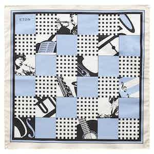 Blue Jazz Pocket Square