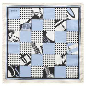 Blue Jazz Pocket Square