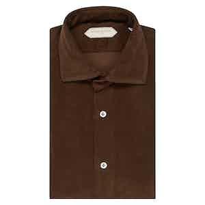 Dark Brown Cotton Shirt