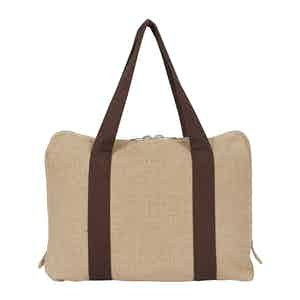 Natural Irish Linen Briefcase