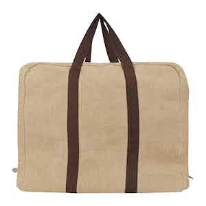 Natural Irish Linen Parachute Bag