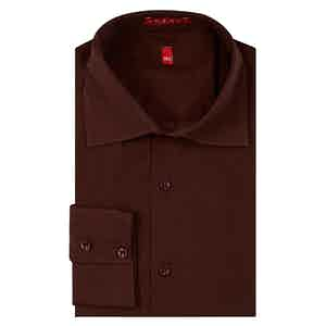 Burgundy Italian Cotton Shirt