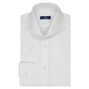 White Twill Cotton Business Shirt