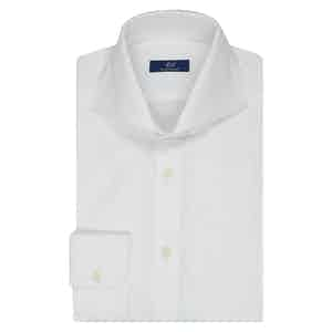 White Twill Cotton Business Shirt