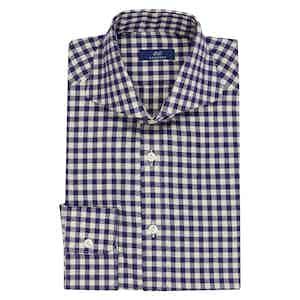 Navy Cotton Gingham Shirt
