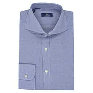 Celeste Blue Micro Check Shirt