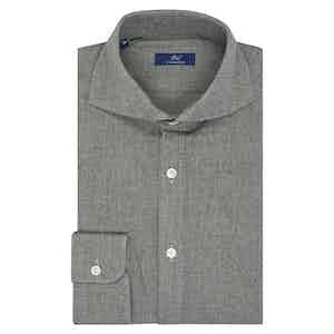 Light Grey Cotton Casual Shirt