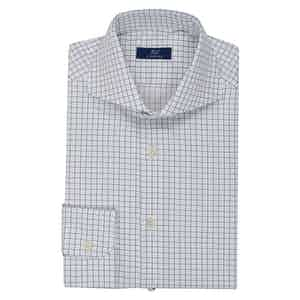 Navy and White Check Shirt