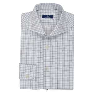 Navy and White Check Shirt