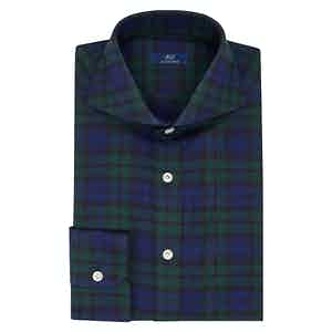 Blue and Green Tartan Shirt