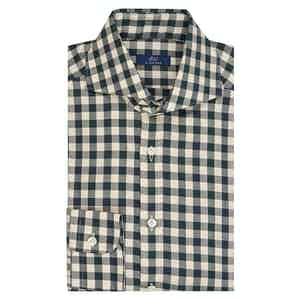 White and Black Gingham  Cotton Shirt