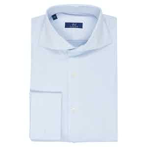 Light Blue Cotton Twill Business Shirt