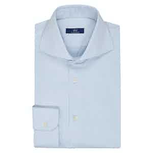 Blue Cotton Twill Business Shirt