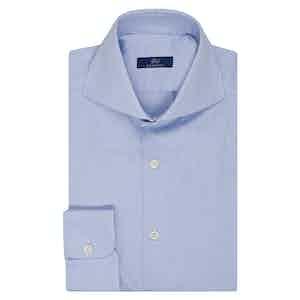 Azure Oxford Cotton Single Cuff Shirt