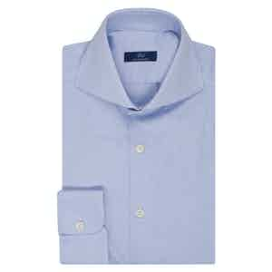 Azure Oxford Cotton Single Cuff Shirt