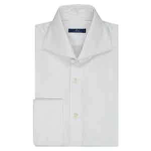 White Oxford Cotton Double Cuff Shirt