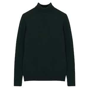 Green Cashmere Turtleneck Knit Jumper