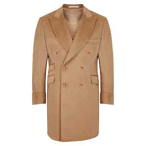 Cashmere Double-Breasted Beige Coat