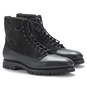 Kerouac Black Suede and Deerskin Special Edition Boots