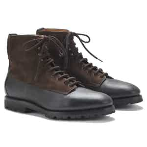 Kerouac Brown Suede and Deerskin Special Edition Boots