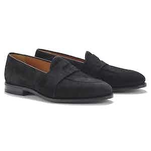 Gattuso Black Suede Loafers