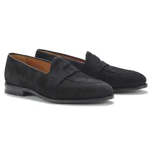 Gattuso Black Suede Loafers