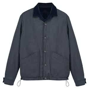 Double Face Wool Navy And Grey Jacket