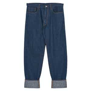 Blue Mechanic Cotton Denim Jeans