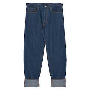 Blue Mechanic Cotton Denim Jeans