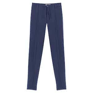 Navy Cashmere Drawstring Pants