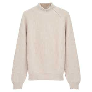 Beige Cashmere Driving Sweater