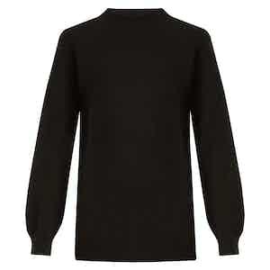 Navy Lightweight Merino Wool Travel Sweater