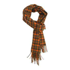 Chocalate and Tiger Brushed Cashmere Scarf
