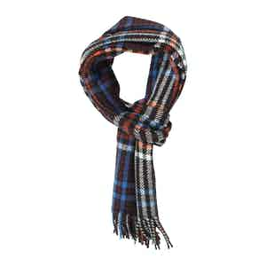 Brown and Tiger Check Heritage Cashmere Scarf