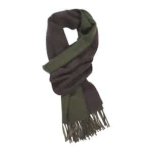 Muscat and Loden Mix Double Faced Cashmere Scarf