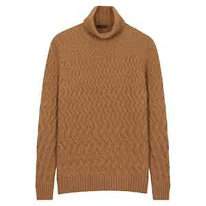 Beige Wool Rollneck Jumper