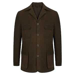 Field Green Wax Safari Jacket