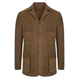 Desert Tan Wax Safari Jacket