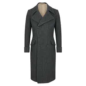 Goose Grey Herringbone Greatcoat