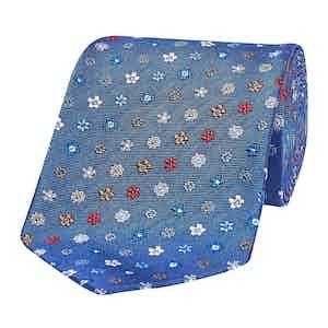 Blue Floral Assortment Silk Tie