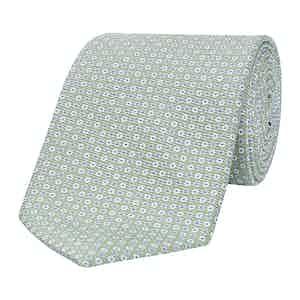 Light Green Dotted Silk Tie